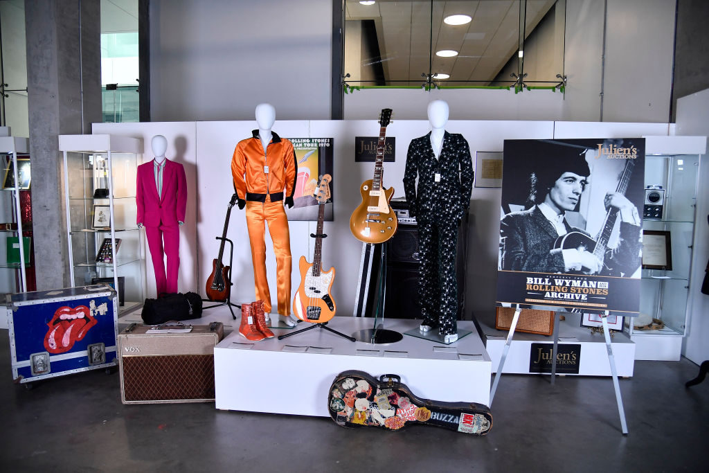Julien's Auctions Hosts Press Preview For Property Of Bill Wyman And His Rolling Stones Archive