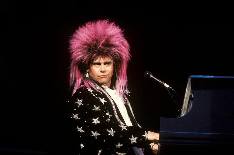 Elton John at a 1986 Concert