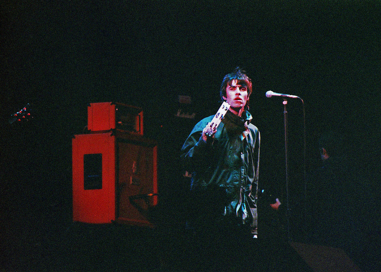 Oasis Perform At The 1995 Glastonbury Festival