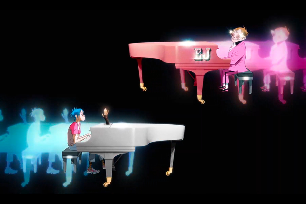 Elton John and Gorillaz The pink phantom