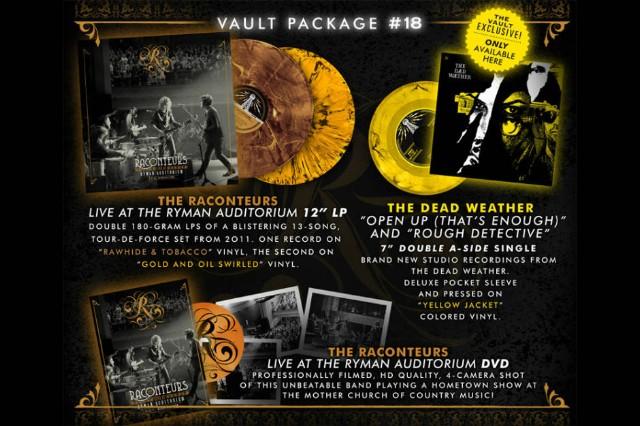 New Dead Weather Raconteurs Live Third Man Vault Package