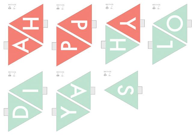 DIY Basics: Pennant Flag Banners (+ Free Printables ...