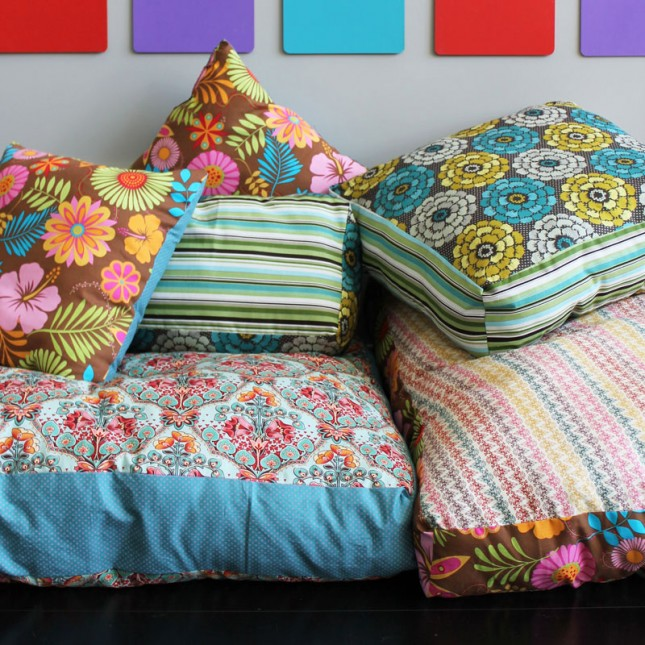 How To Create Your Own Colorful Jumbo Floor Pillows Brit