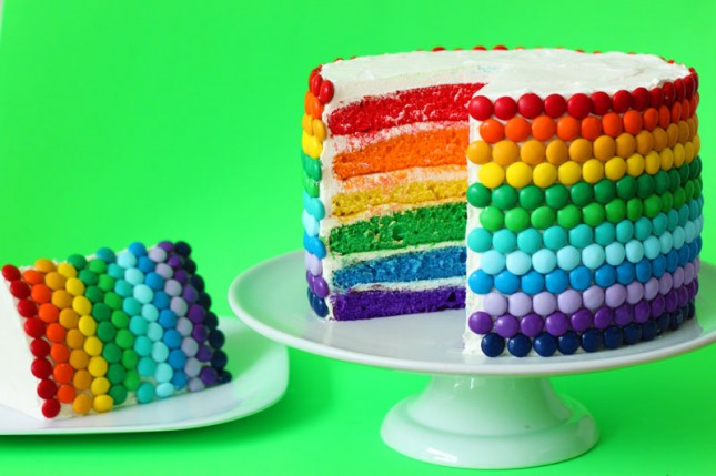 St. Patrick's Day Rainobow Cake - Brit & Co