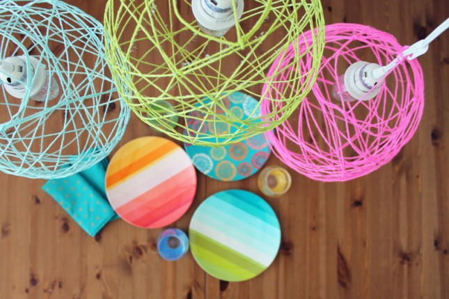 How To Make Illuminated Yarn Lanterns Brit Co