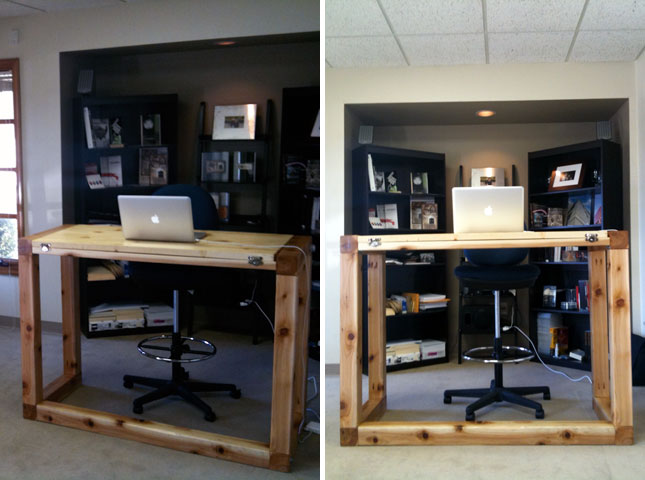 Get Up Stand Up 10 Do It Yourself Standing Desks Brit Co