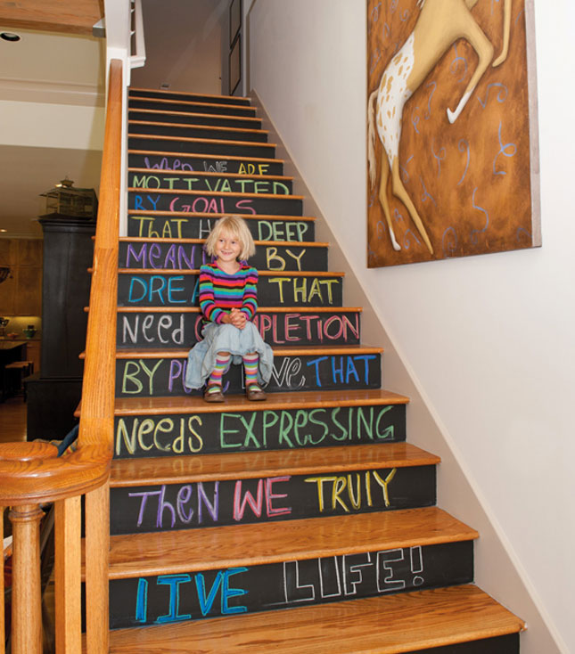25 Pretty Painted Stairs Ideas: 14-Stairs