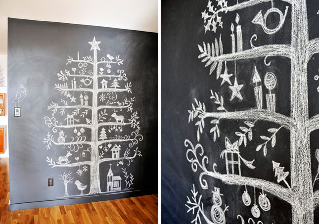 15. Chalkboard Christmas Tree : We know Christmas is a long way away ...