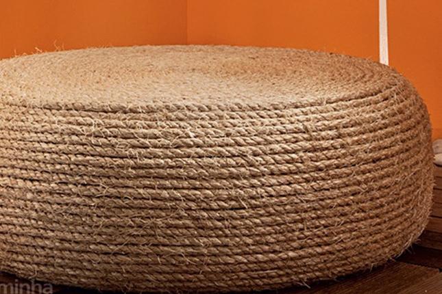 21 Tire Into An Ottoman We Love The Idea Of Repurposing