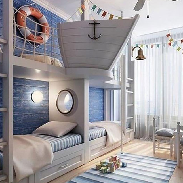 Nautical Bunk Beds: Slam Bunk! Here Are The 17 Best Double Decker Sleepers