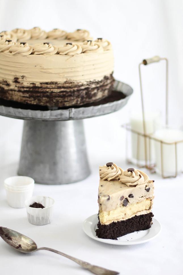 Chocolate Chip Cookie Dough Devil S Food Cake Cheesecake Recipe