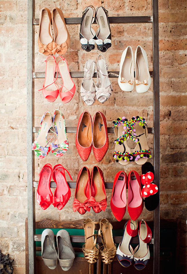 12 inventive ways to organize your shoes brit co. Black Bedroom Furniture Sets. Home Design Ideas