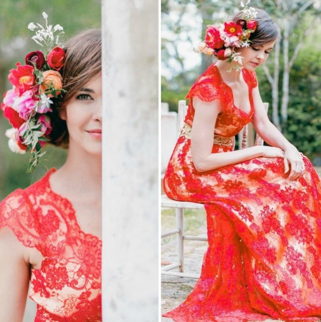 Non Traditional Red Wedding Dresses