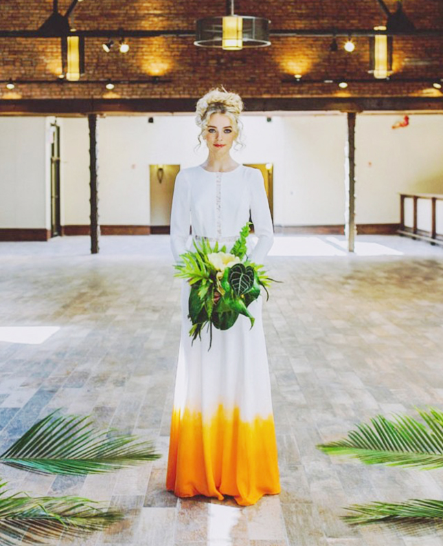 Non Traditional Wedding Dresses With Color: 18 Colorful Wedding Dresses For The Non-Traditional Bride