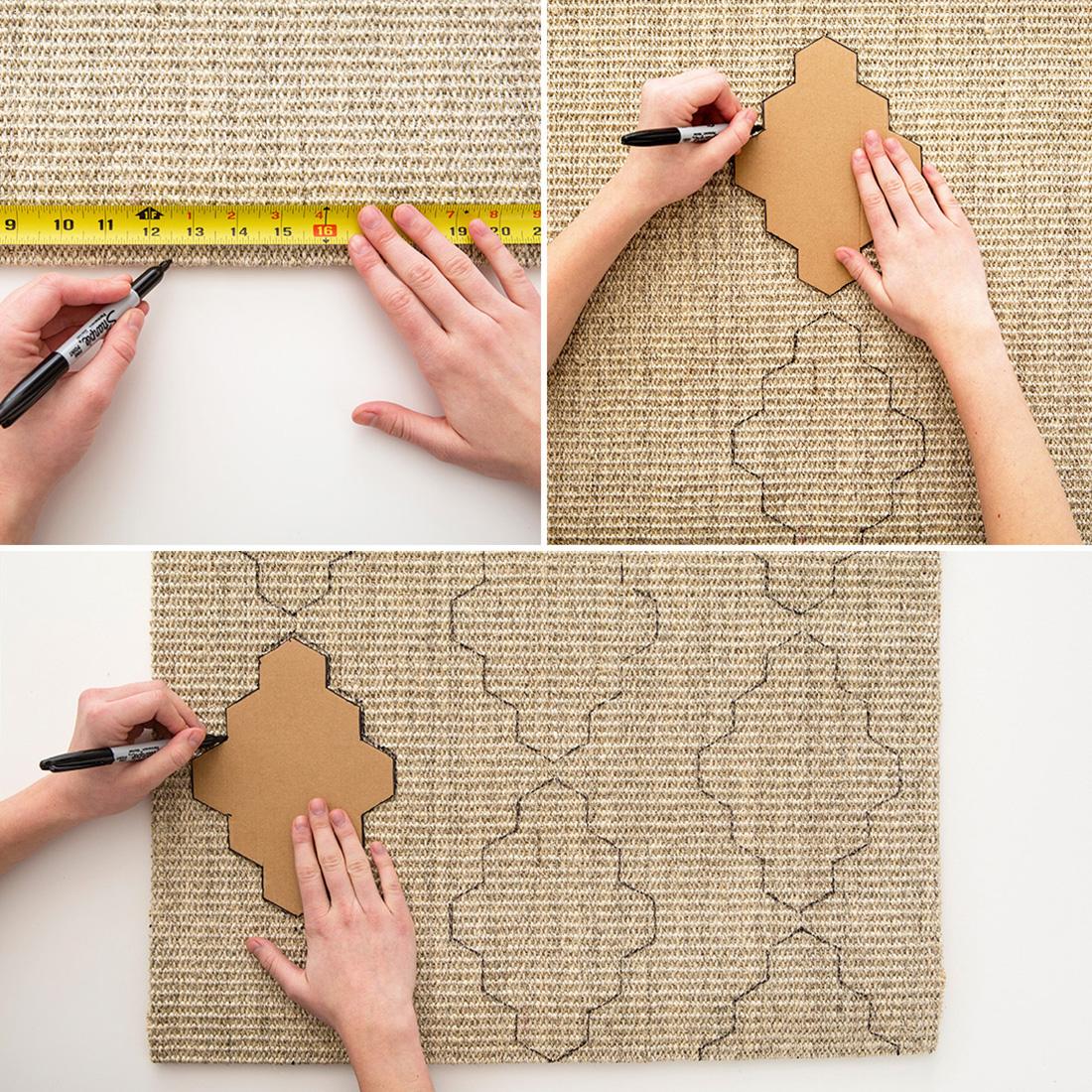Decorazione fai da te per il tappeto fai da te creativo for Design personalizzato per la casa