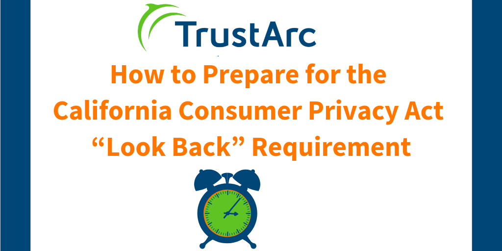 how to prepare for the california consumer privacy act \u201clook back Personal Information Protection and Electronic Documents Act how to prepare for the california consumer privacy act \u201clook back\u201d requirement \