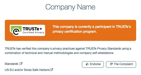 TRUSTe Privacy Program Participants | TrustArc