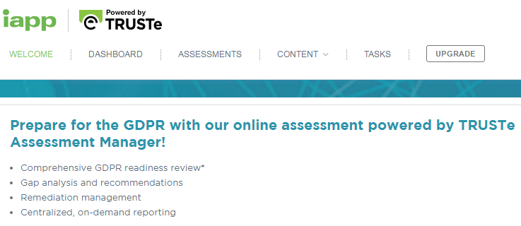 TRUSTe Assessment Manager for GDPR Article