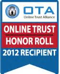 OTA Online Trust & Honor Roll 2012