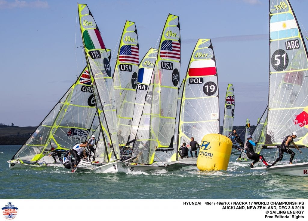 Successful Opening Day for Foundation Grantees at 2019 49ER, 49ERFX AND NACRA 17 WORLDS