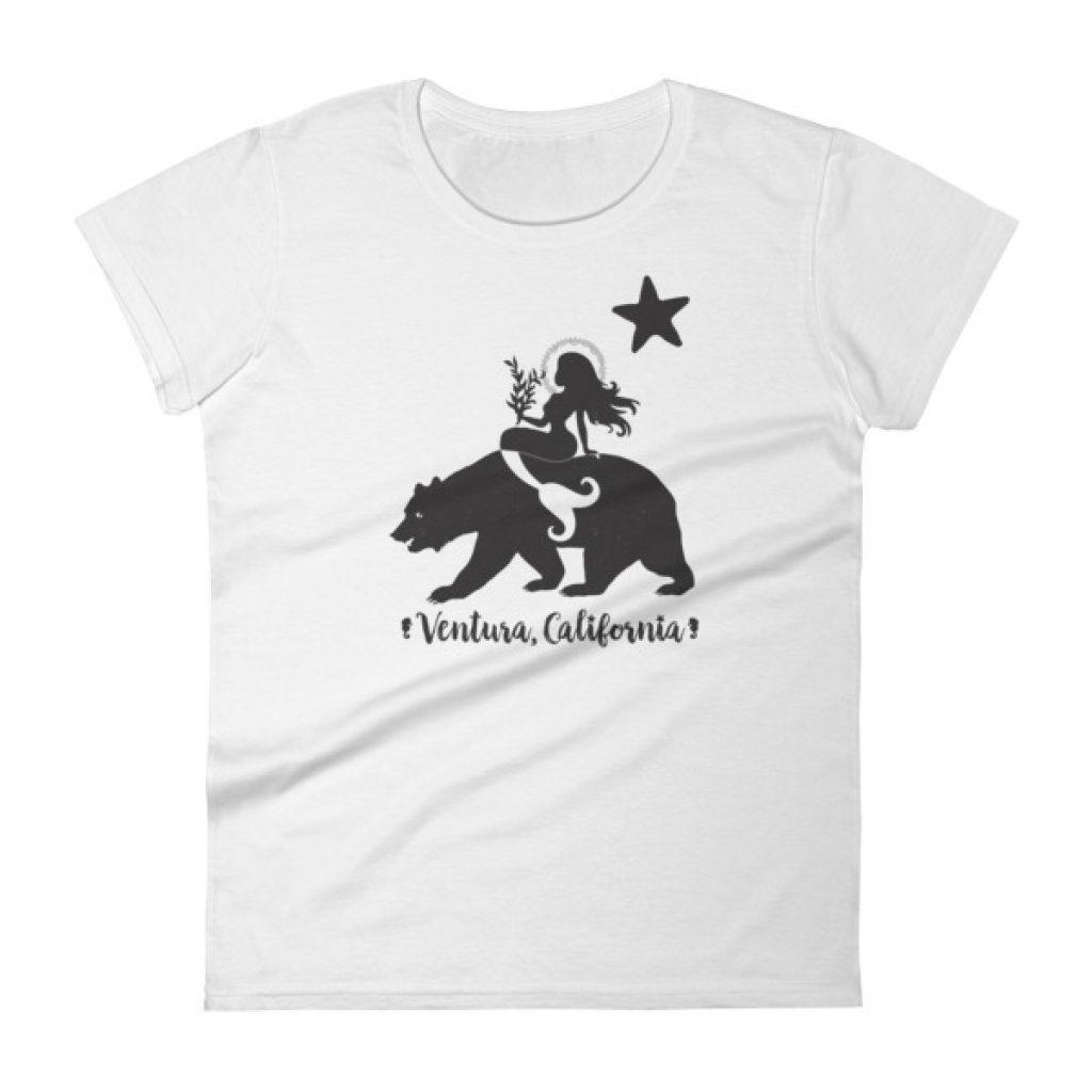 Ventura California Mermaid and Bear Women's short sleeve t-shirt