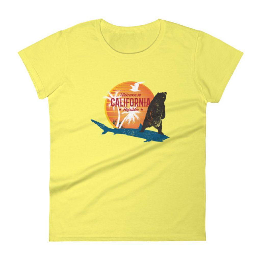 Surfer Bear Shark Women's short sleeve t-shirt