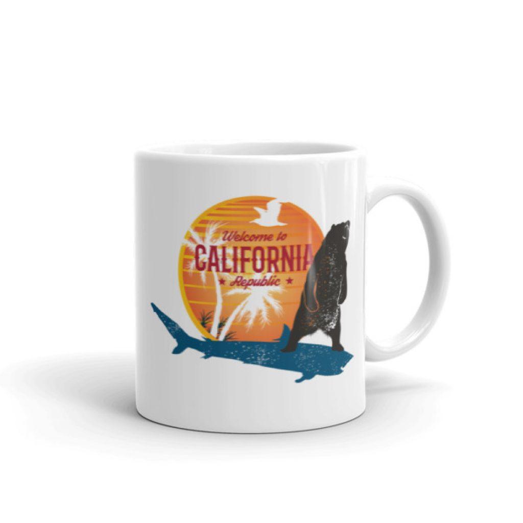 California Bear and Shark Mug