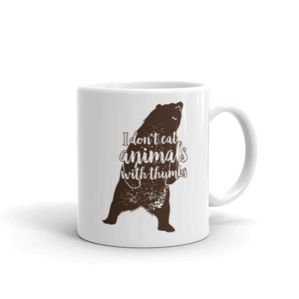 Mad Bear No Animals With Thumbs Mug