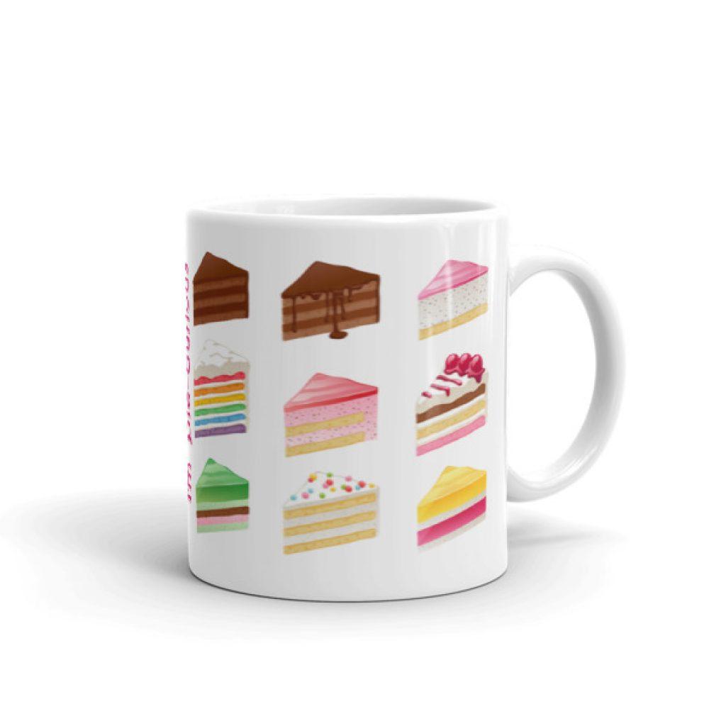 Pie Curious Cake Mug made in the USA