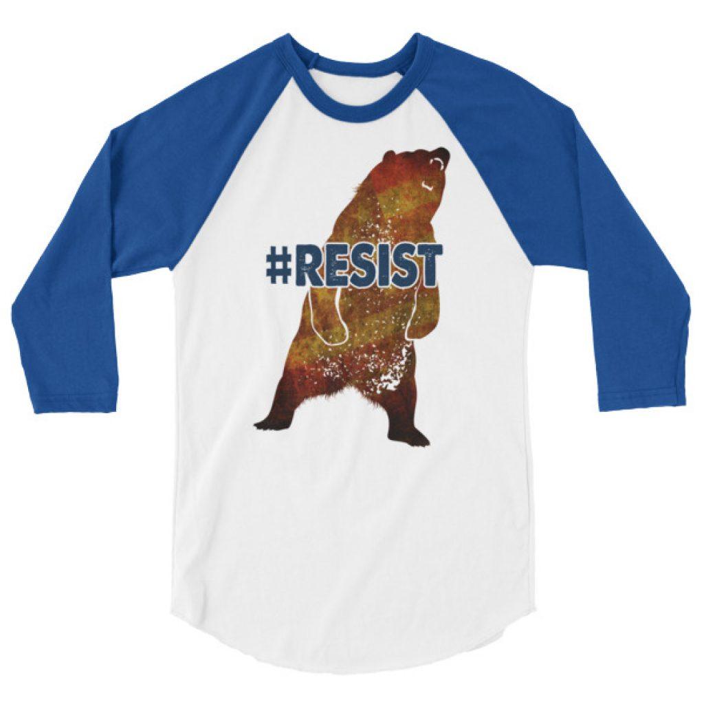 Mad Bear Resist 3/4 sleeve raglan shirt