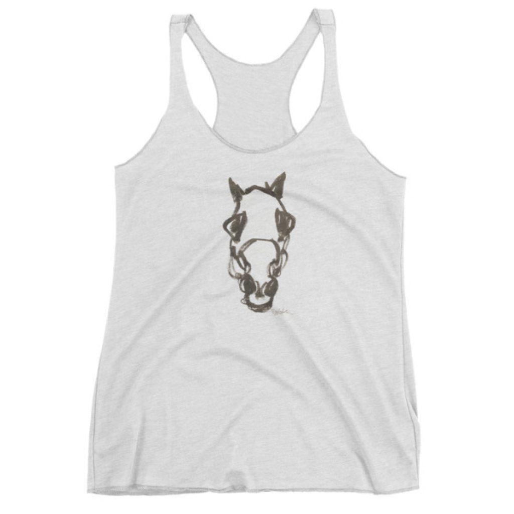 Horses Head Sketch by Bob Peak – Women's tank top