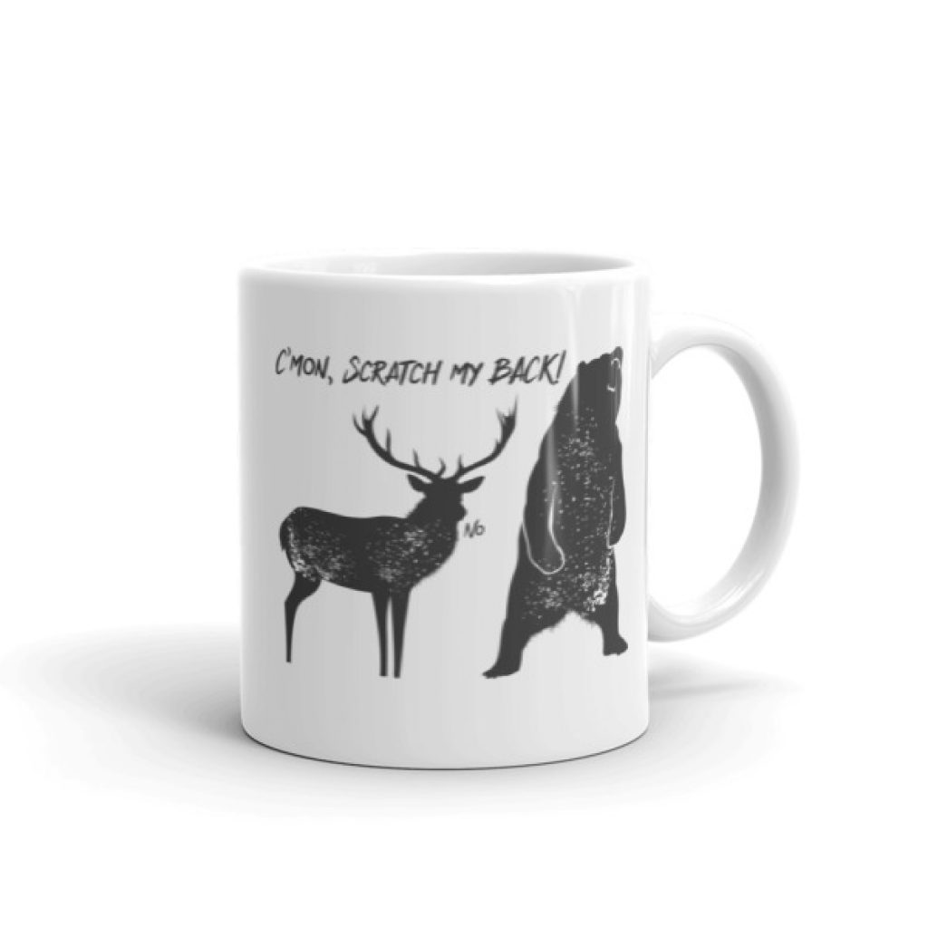 Scratch My Back Mug made in the USA