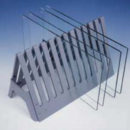 Black-Glass-Plate-Rack-12-Place-For-large-format-or-sequencing-glass-plates-C-B-S-Scientific-Company-Inc-GRH-100B