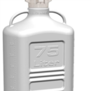 EZwaste-Safety-Vent-Carboy-75L-HDPE-with-VersaCap-120mm-and-EZ-Top-adapter-6-Ports-for-1-8-OD-Tubing-and-a-Chemical-Exhaust-Filter-332-6712-OEM-Foxx-Life-Scences-332-6712-OEM