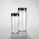 Clear-Glass-Straight-Sided-Jars-Convenience-Packs-Caps-Attached-Tall-250-mL-Kimble-Chase-5510858V-86