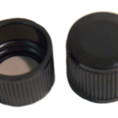 Black-Phenolic-Caps-with-PTFE-Faced-Rubber-Liners-19-mm-Kimble-Chase-45066C-24