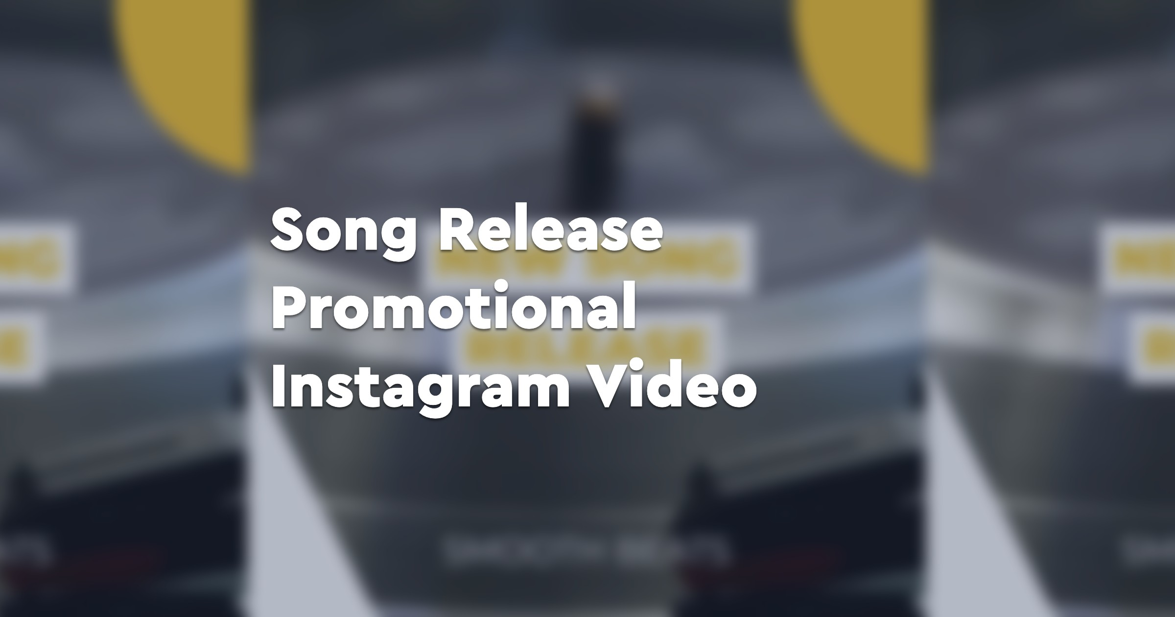 Song Release Promotional Instagram Video
