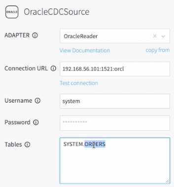 Configuring Database Properties for the Oracle CDC Data Source