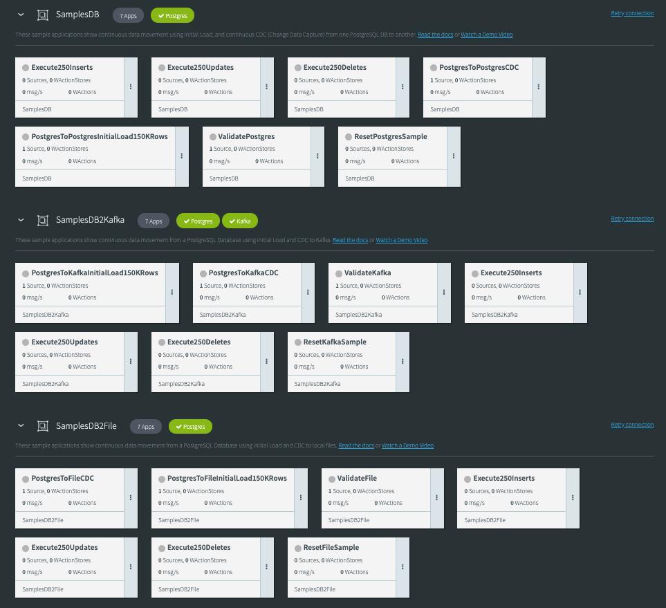 Striim Pre-built Sample Integration Applications