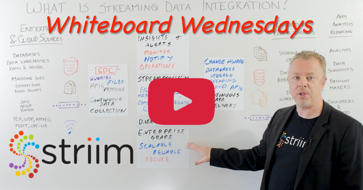 Whiteboard Wednesdays - Streaming Data Integration