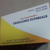 Prof Payal Parekhs Excellence Tutorials coaching class