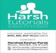 Harsh Tutorials coaching class