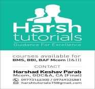 Harsh Tutorials coaching class