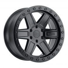 BLACK RHINO ATTICA 20x9.5 5/150 ET12 CB110.1 MATTE BLACK W/BLACK BOLTS