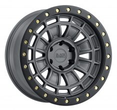 BLACK RHINO DALTON 20X9.5 5/127 ET-12 CB71.6 MATTE GUNMETAL W/BLACK LIP EDGE AND B