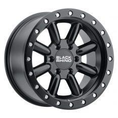 BLACK RHINO HACHI 18x9.0 5/150 ET12 CB110.1 MATTE BLACK W/SILVER BOLTS