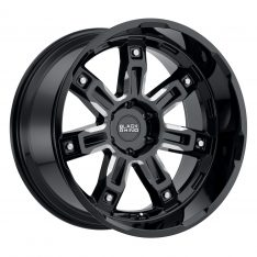 BLACK RHINO LOCKER 22X11.5 5/127 ET-44 CB71.6 GLOSS BLACK W/MILLED SPOKES