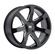BLACK RHINO MOZAMBIQUE 24x10.0 5/150 ET30 CB110.1 GLOSS BLACK W/MILLED SPOKES