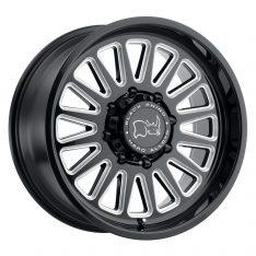 BLACK RHINO OCALA 17x9.5 8/180 ET12 CB125.1 GLOSS BLACK W/MILLED SPOKES