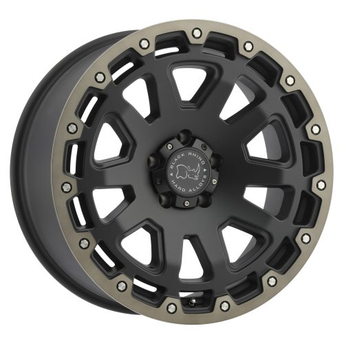 BLACK RHINO RAZORBACK 20x12.0 5/127 ET-44 CB71.6 MATTE BLACK W/MACHINE DARK TINT LIP
